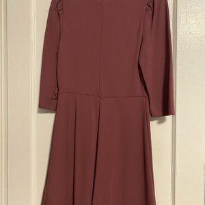 Express mauve knee length dress